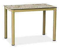 Стол обеденный Signal Мебель Damar 100 x 60 см Темно-бежевый (DAMARCB)
