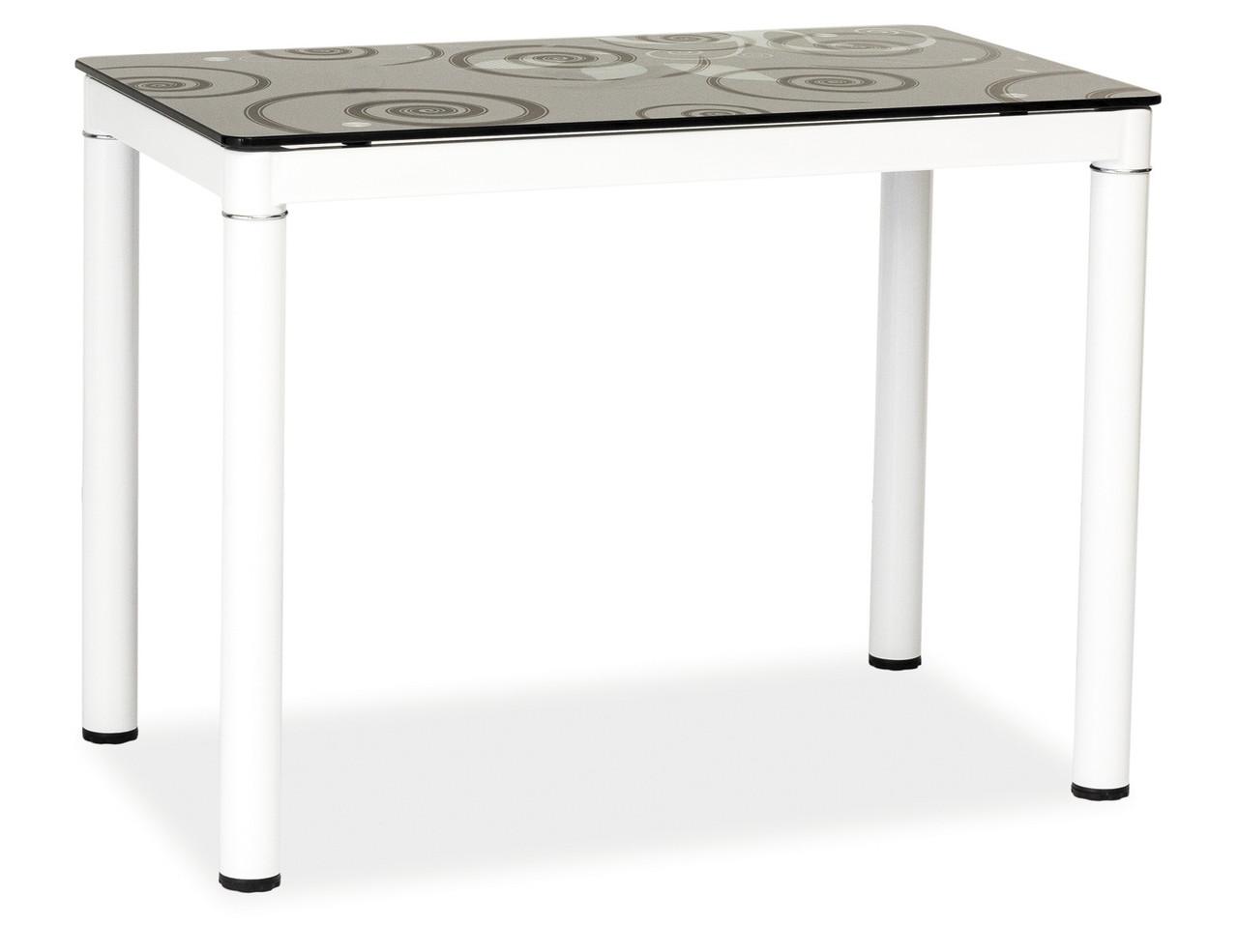 Стол обеденный Signal Мебель Damar 100 x 60 см Черно-белый (DAMARBB)