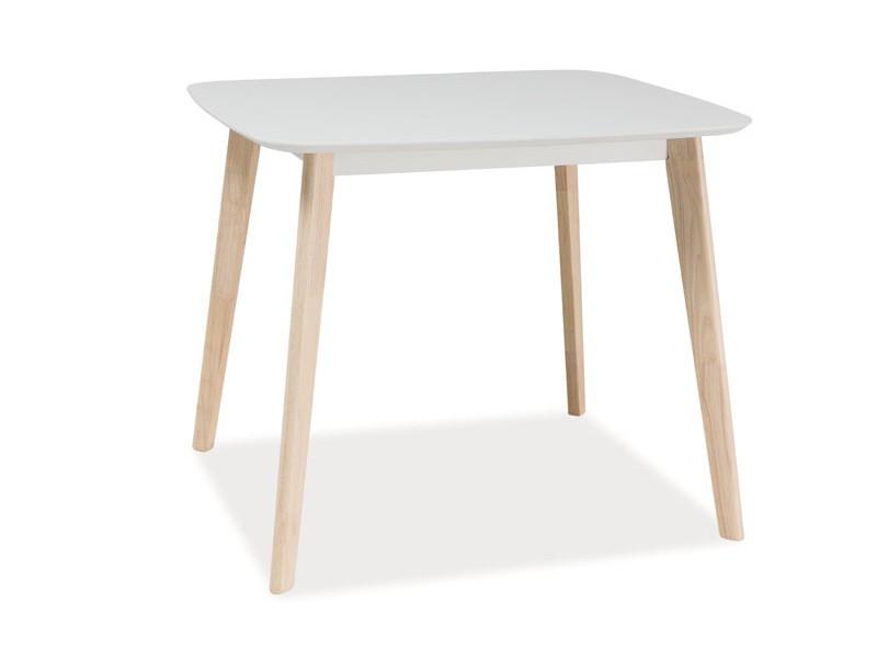 Стол обеденный Signal Tibi 90х80 см Дуб беленый (TIBIDBB90)