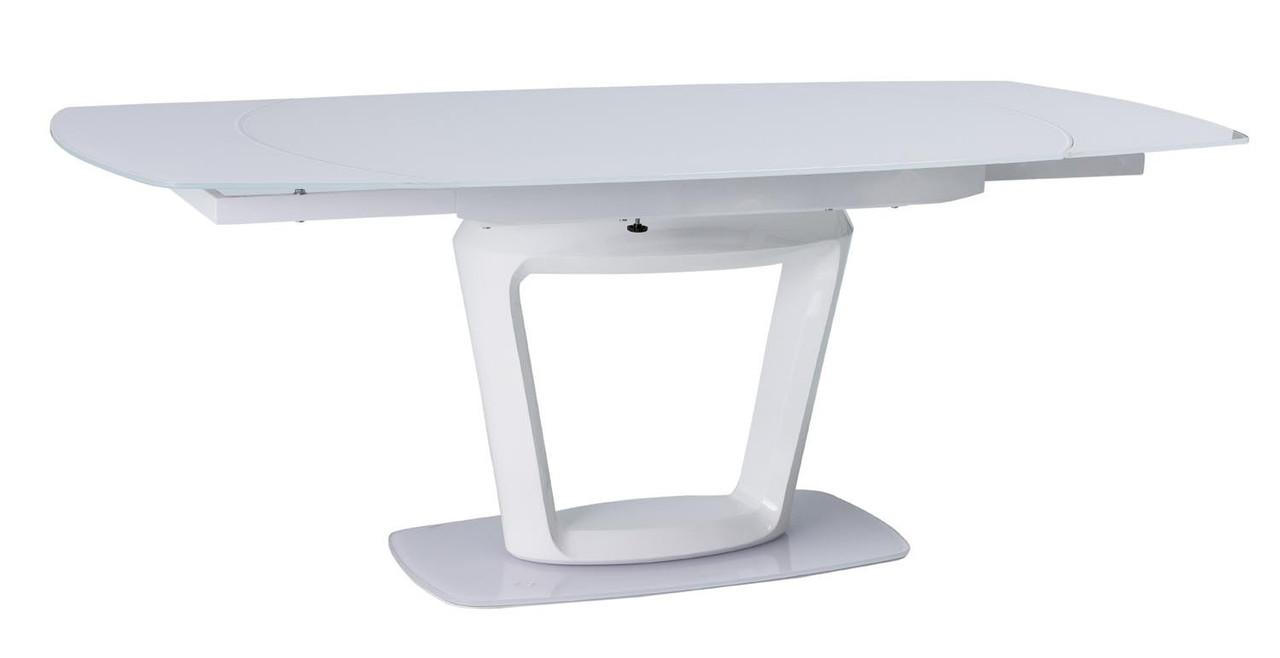 Стол обеденный Signal Мебель Claudio 76 х 100(200) см Белый (CLAUDIOBB140)