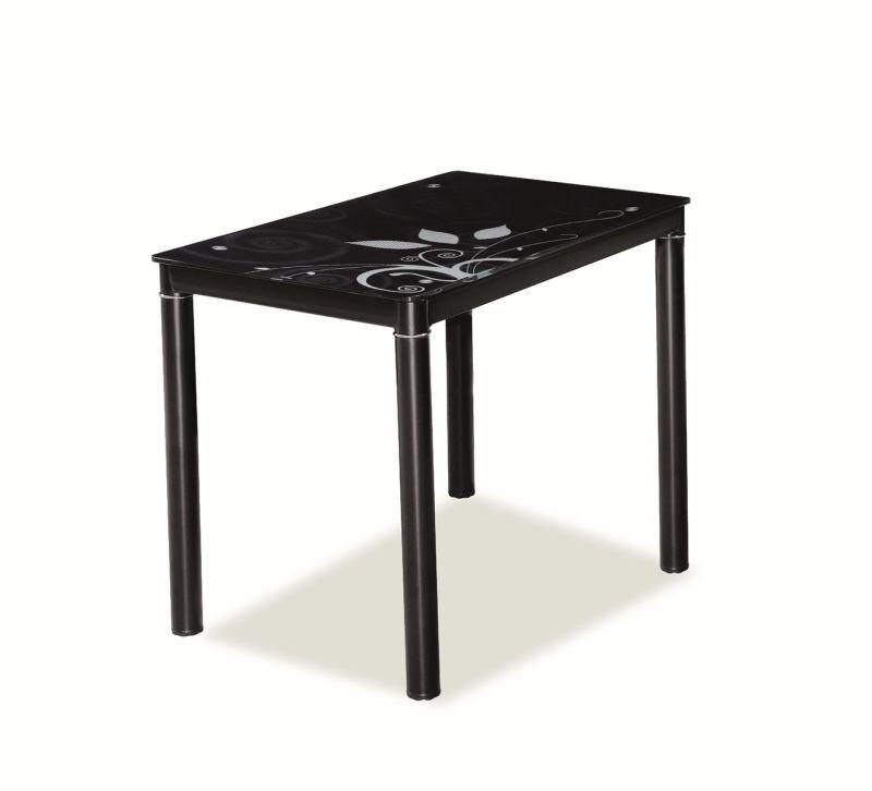Стіл обідній Меблі Signal Damar 80 x 60 см Чорний (DAMARC80)