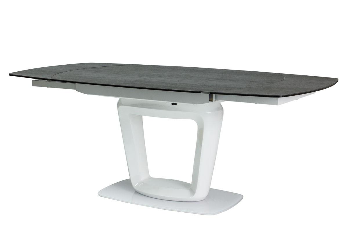 Стіл обідній Signal Claudio Ceramic 140(200)х100 см Сірий + Білий (CLAUDIOSZB)