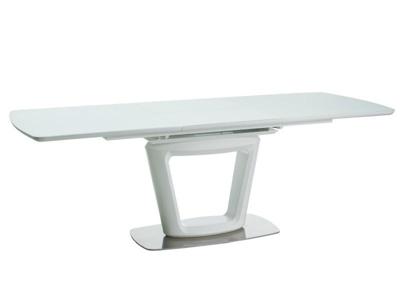 Стіл обідній Signal Claudio II 90х160(220) см Білий (CLAUDIOIIBB160)