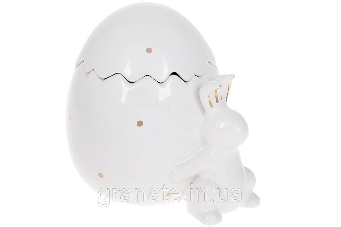Банка керамическая 860мл Кролик с яицом, цвет: белый 2шт