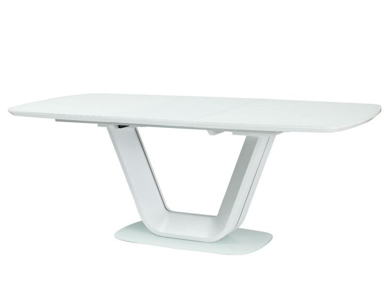Стіл обідній Signal Armani 90x140(200) см Білий матовий (ARMANIBB140)