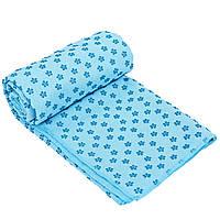 Йога полотенце (коврик для йоги) SP-Planeta FI-4938 (голубой)