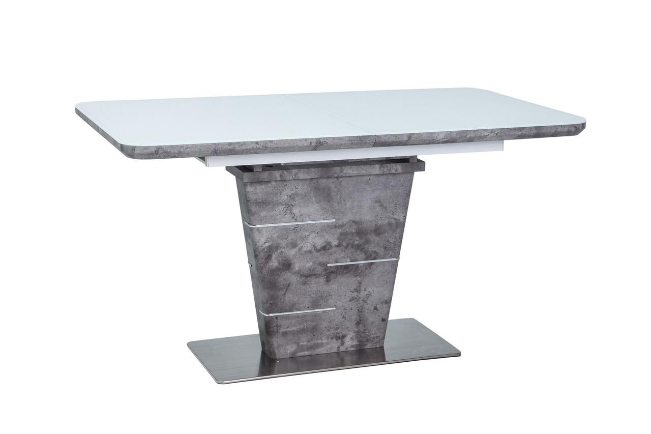 Стол обеденный Signal Ilario 80х140(180) см Белый бетон (ILARIOBBT)