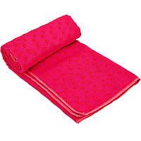 Йога полотенце (коврик для йоги) SP-Planeta FI-4938 (розовый)