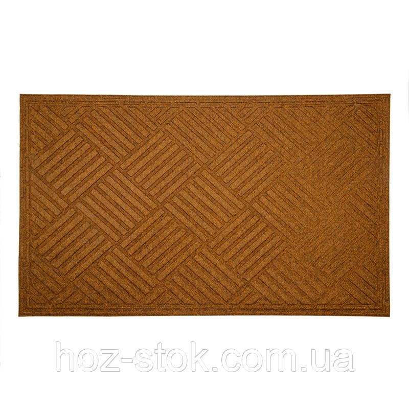 Килимок придверний YP group побутовий текстильний (коричневий) 45х75 см