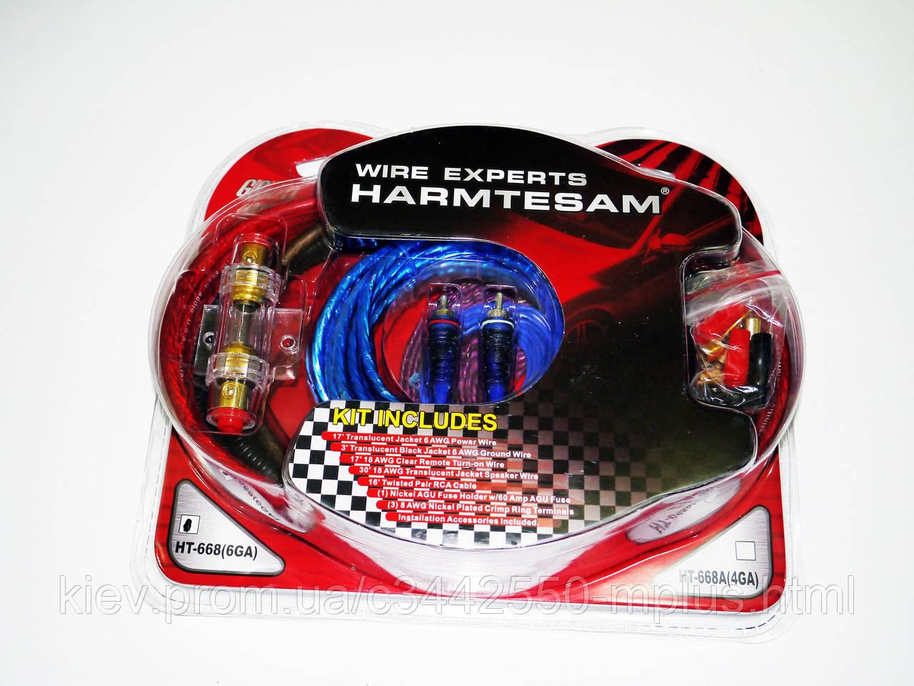 Набор проводов для усилителя / сабвуфера HT-668 (6GA)