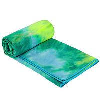 Йога полотенце (коврик для йоги) KINDFOLK FI-8370 (салатовый-зеленый)