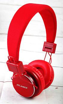 Наушники беспроводные ATLANFA AT-7611 red (Bluetooth/MicroSD)