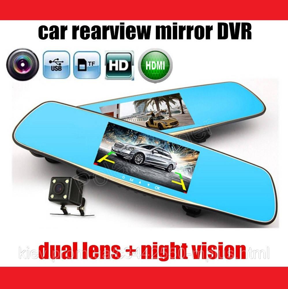 "D35 / K35 Зеркало регистратор, 7"" сенсор, 2 камеры, GPS навигатор, WiFi, 8Gb, Android, 3G"