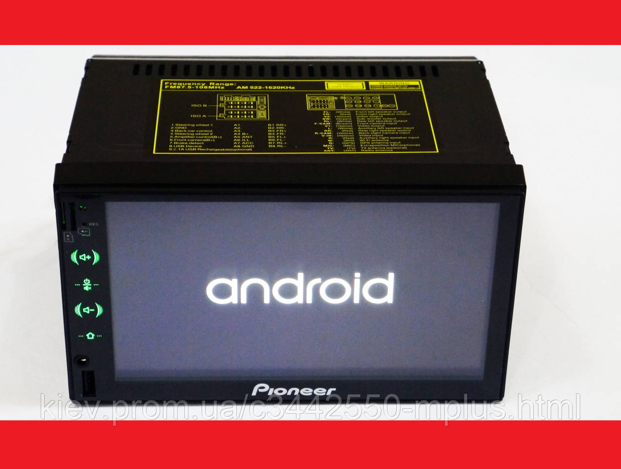 2din Pioneer FY6503 GPS + WiFi + 4Ядра +Android