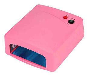 Лампа для наращивания ногтей ZH-818 36W Розовая, фото 2