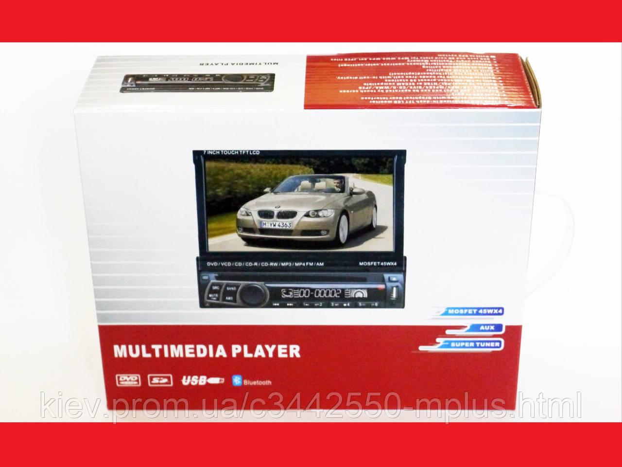 1din Магнитола Pioneer 712 DVD+USB+Bluetooth