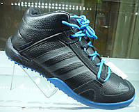 Кроссовки мужские Adidas Daroga черные с синим зима