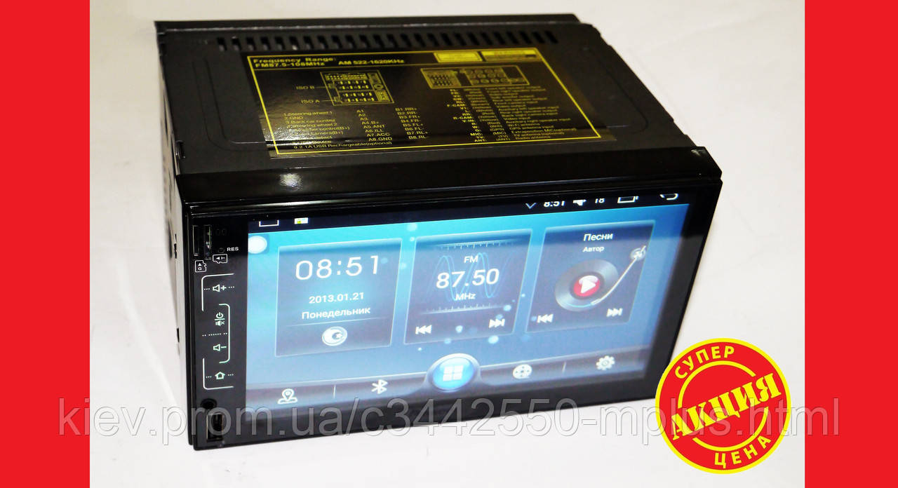 2din Pioneer FY6511 GPS + WiFi + 4Ядра +Android