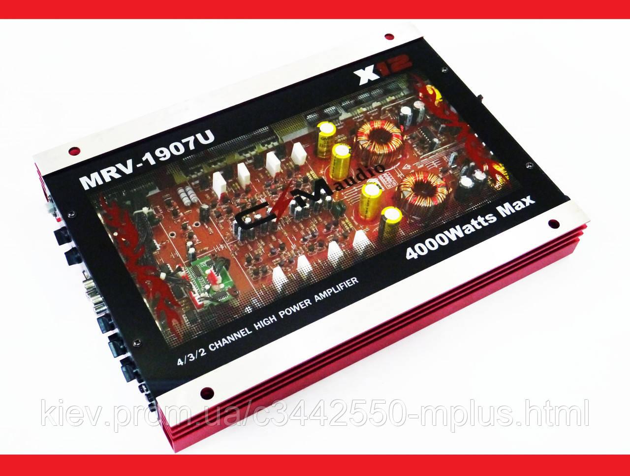 Автомобильный усилитель звука CMaudio MRV-1907U + USB 4000Вт 4х канальный Прозрачный корпус