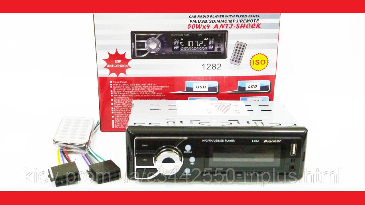 Автомагнитола Pioneer 1282 ISO - MP3+FM+USB+microSD-карта