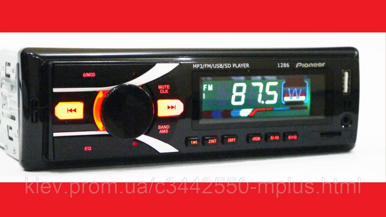 Автомагнитола Pioneer 1286 ISO - MP3+FM+USB+microSD-карта
