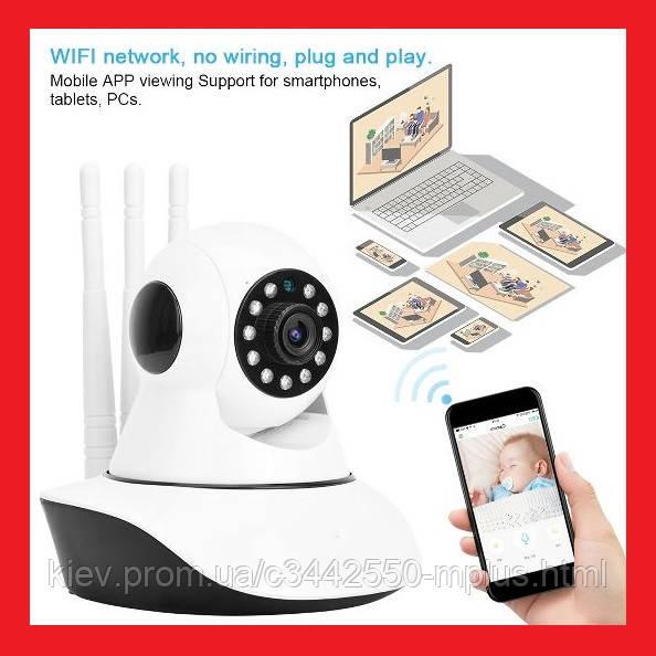 IP WiFi камера с ТРЕМЯ антеннами с удаленным доступом