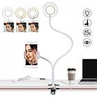 Кольцевая лампа с держателем Professional Live Stream, селфи-кольцо, фото 7