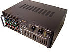 Усилитель UKC AV-767BT Bluetooth FM SD USB AUX Караоке 5xМикрофонов 8-канальный, фото 2