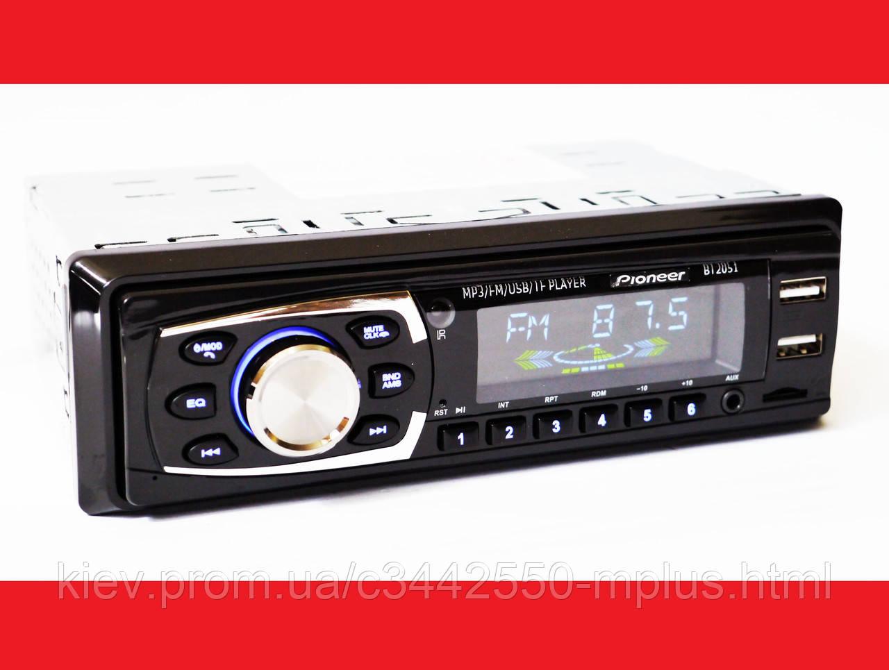 Автомагнитола Pioneer BT2051 Bluetooth ISO FM, USB, SD, AUX