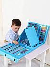 Набор для рисования чемодан 208 предметов Цвет синий, фото 3