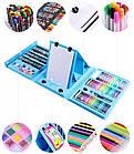 Набор для рисования чемодан 208 предметов Цвет синий, фото 6