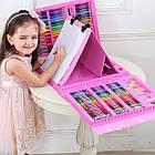Набор для рисования чемодан 208 предметов Цвет розовый, фото 5