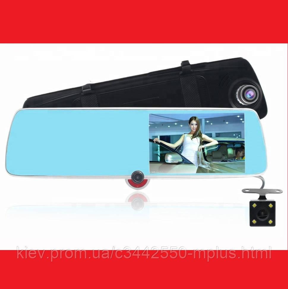 """DVR CSZ-C33 Зеркало с видео регистратором с ТРЕМЯ камерами. 5"""" Сенсорный экран"""