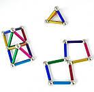 Магнитный конструктор Neo 36 палочек и 26 шариков Разноцветный, фото 6