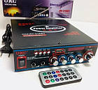 Усилитель UKC AV-316BT - Bluetooth, USB, SD, FM, MP3!  Караоке 2х канальный, фото 2