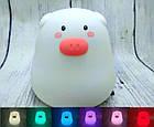 Ночной светильник силиконовая свинка Mini Pig, фото 2