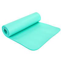 Коврик для фитнеса и йоги гимнастический SP-PLANETA 183 x 61 x 1 см NBR Каучук Мятный (FI-6986)