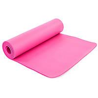 Коврик для фитнеса и йоги гимнастический SP-PLANETA 183 x 61 x 1 см NBR Каучук Розовый (FI-6986)