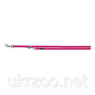 Поводок-перестёжка Trixie из нейлона «Premium» M-L 2 м / 20 мм (розовый) - 200511