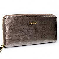 Женский лаковый кошелек на молнии серебристый LORENTI 77006-SH Grey, фото 1