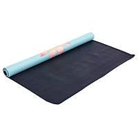 Коврик для йоги замшевый каучуковый двухслойный Record 1 мм FI-5663-2