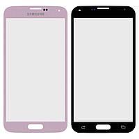 Защитное стекло корпуса для Samsung Galaxy S5 G900, розовый, оригинал