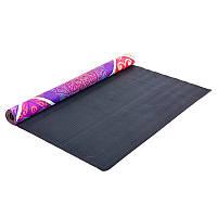 Коврик для йоги замшевый каучуковый двухслойный Record 1 мм FI-5663-5