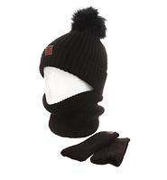 Женская шапка+хомут+маска AL799041