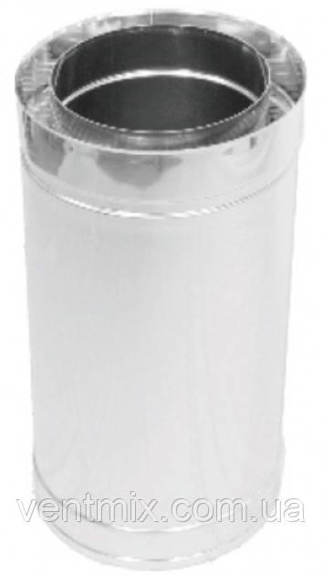 Труба утепленная d 130/200 нержавейка в нержавейке длина 0,5 м (толщина 0,5 мм)