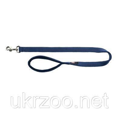 Поводок Trixie нейлоновый с неопреновой петлей «Premium» L-XL 1 м / 25 мм (синий)