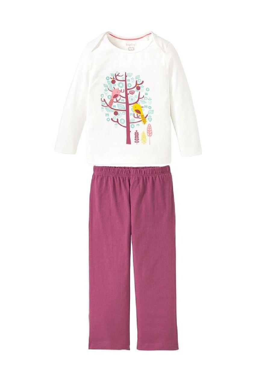 Пижама детская (реглан, штаны) девочкам с птичками