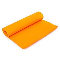 Коврик для фитнеса и йоги SP-Planeta TPE+TC 6мм FI-4937 (оранжевый)