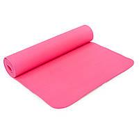 Коврик для фитнеса и йоги SP-Planeta TPE+TC 6мм FI-4937 (розовый)