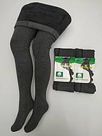 Колготы на меху 2 шва XL-2XL тёплые плотные KENALIN 285 бамбук серый ЛЖЗ-120496, фото 1